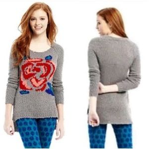 L'amour by Nanette Lepore rose popcorn sweater L
